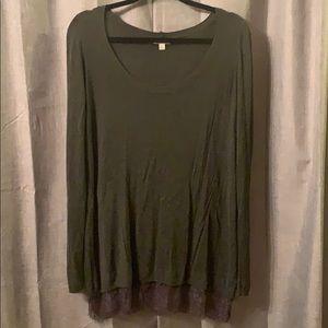 Grey slouchy shirt